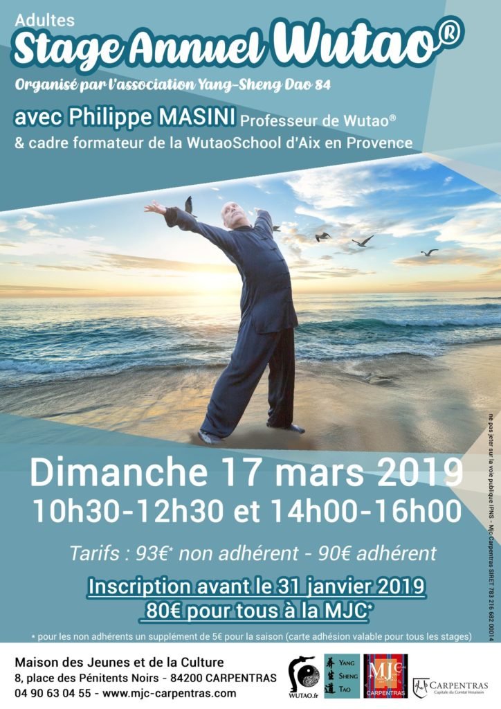 Flyer stage Carpentras 2019-03-17